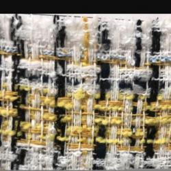 采購如圖黃白黑三色小香風面料 要現貨提供色卡  柯橋門市供應商優先 來電請說編號082105S