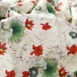 麻棉印花及素色
